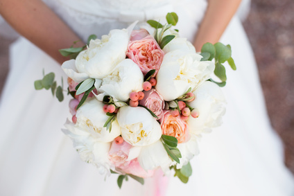A Wedding Bouquet of David Austin Roses.