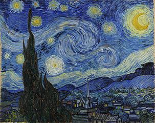 Starry Night. Painting by Van Gogh.